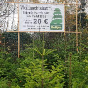 Weihnachtsbaum Verkaufsschild